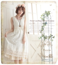cotton lace sweet bohemian vestidos tunique femme harajuku gothic patchwork pin up moda mujer mori girl