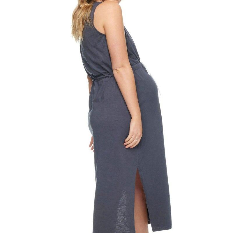 Summer Mother Women Maternity Dresses Casual Sleeveless Belt Preganancy Dresses Maxi Female Pregnant Office Dress Plus Clothes (2)
