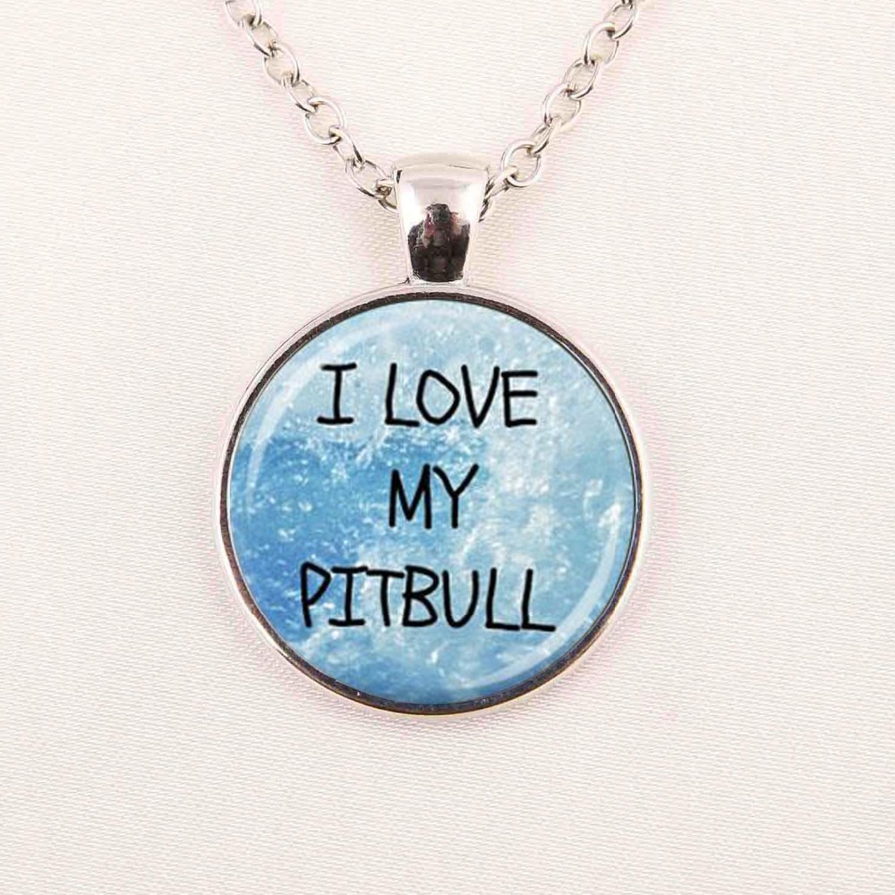 i love my pitbull letter necklace word pendant necklace