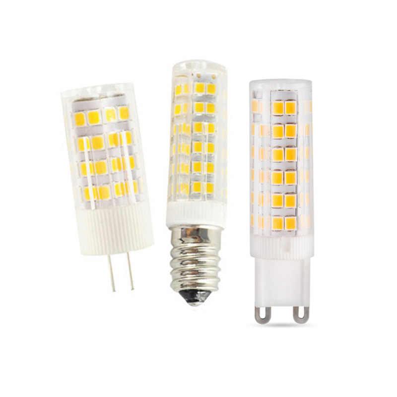 1-10X E14 светодиодный светильник Керамика G4 Светодиодный лампочки G9 110 220 V 5 W 7 W 9 W 12 W 15 W SMD2835 светодиодный светильник 360 градусов светодиодный прожектор лампы