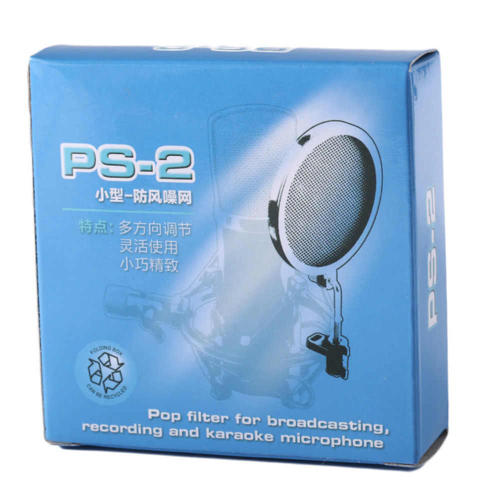 PS-2 2 Lớp Mic Phòng Thu Gió Màn Hình POP Lọc/Xoay Núi/Mặt Nạ Shied Cho Nói Tiếng Ghi Âm Cao Cấp chất!!!!!!