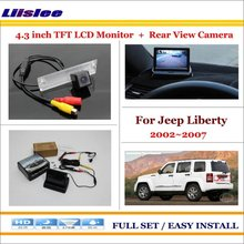 Auto Back UP Reverse Camera + 4.3″ Color LCD Monitor = 2 in 1 Rearview Parking System – For Jeep Liberty 2002~2007