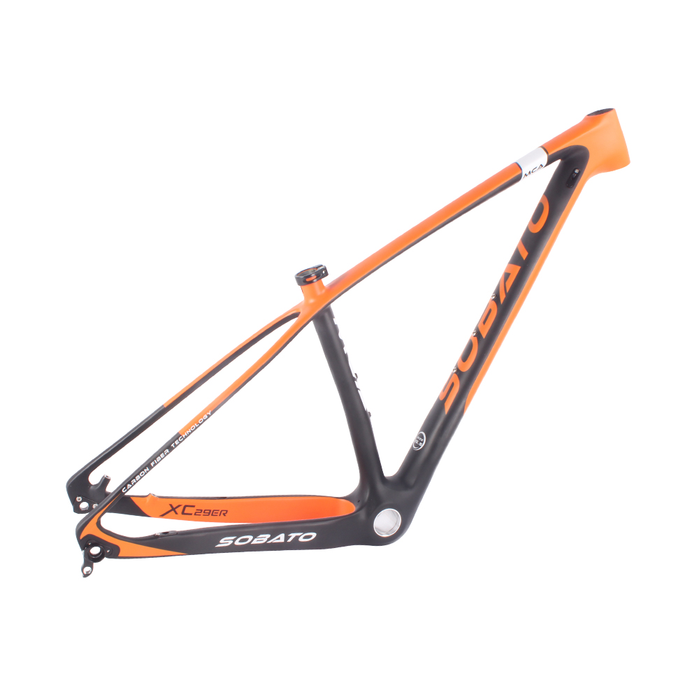 2 Years Warranty T800 carbon mtb frame 29er 29 carbon mountain bike frame 142*12 135*9mm 2017 sobato brand t800 carbon mtb frame 29er mtb carbon frame 29 carbon mountain bike frame 142 12 or 135 9mm bicycle frame