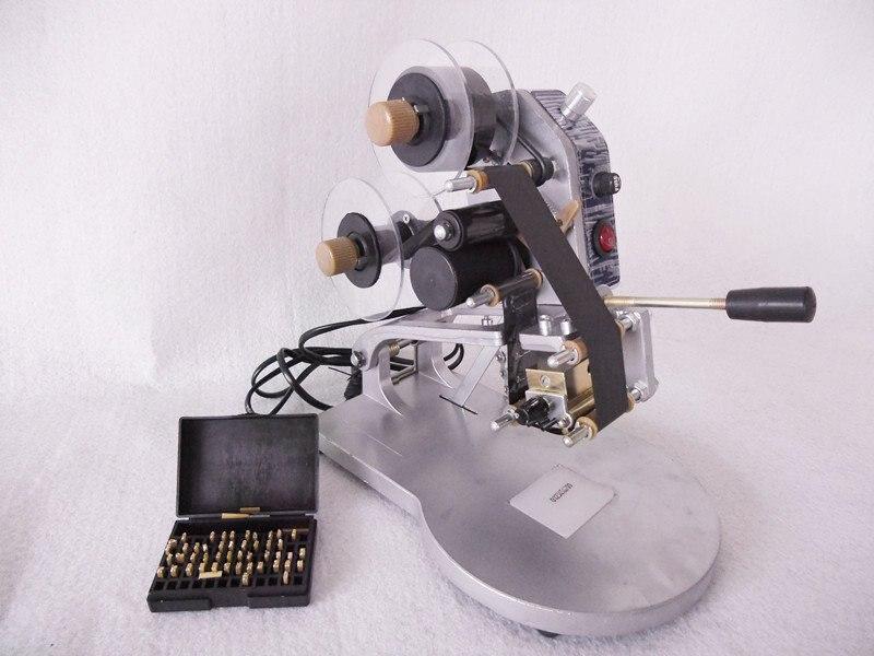 Шт. 1 шт. руководство горячие тиснение фольгой Дата кодер принтер этикеток ленты кодирования машина