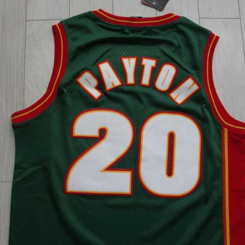 pretty nice 84184 5a110 US $26.0 |Free Shipping Top Quality Jerseys Sonics #20 Gary Payton Jersey  Basketball Jersey White Green-in Basketball Jerseys from Sports & ...