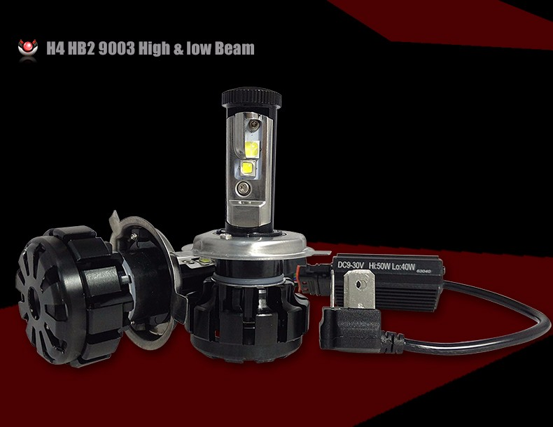 12000LM Super Bright Car LED Headlight Kit H4 HB2 9003 H13 9007 Cree Chips Replace Bulb Anti-Dazzle Beam 3000K 4300K 6000K (8)