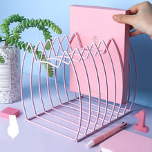 1PC Creative Kawaii Cat Metal Book Magazine Bookends Books Stand Holder Bookshelf Document Storage Organizer Shelf
