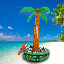 Inflatable Palm Tree With Parrot Cooler Ice Bucket Decoration Party Supplies Balloon Environmental PVC