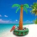 Cooler balde de gelo inflável palm tree com papagaio decoração fontes do partido balão pvc ambiental 180*72 centímetros balão inflado