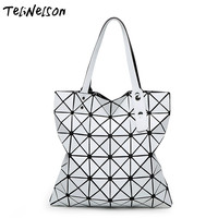 NWT Bao Bao Women Muted Colors Bag Laser Sac Tote Bags 6 6 Geometry Quilted Shoulder