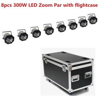 8X LED 300 W COB LED แสง Par flightcase 5-50 องศา 3200 K สีขาว /RGBW 4in1 Disco Light led Par 64