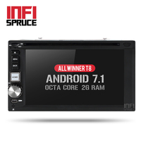Octa Core Android 7 1 Universal Car Dvd For Nissan VW Hyundai Toyota 2 Din Gps