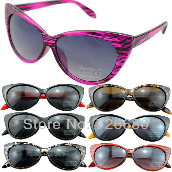 Free shipping! Fashionable Sexy Retro style Round Circle Cat Eye UV400 sunglasses 120-0034