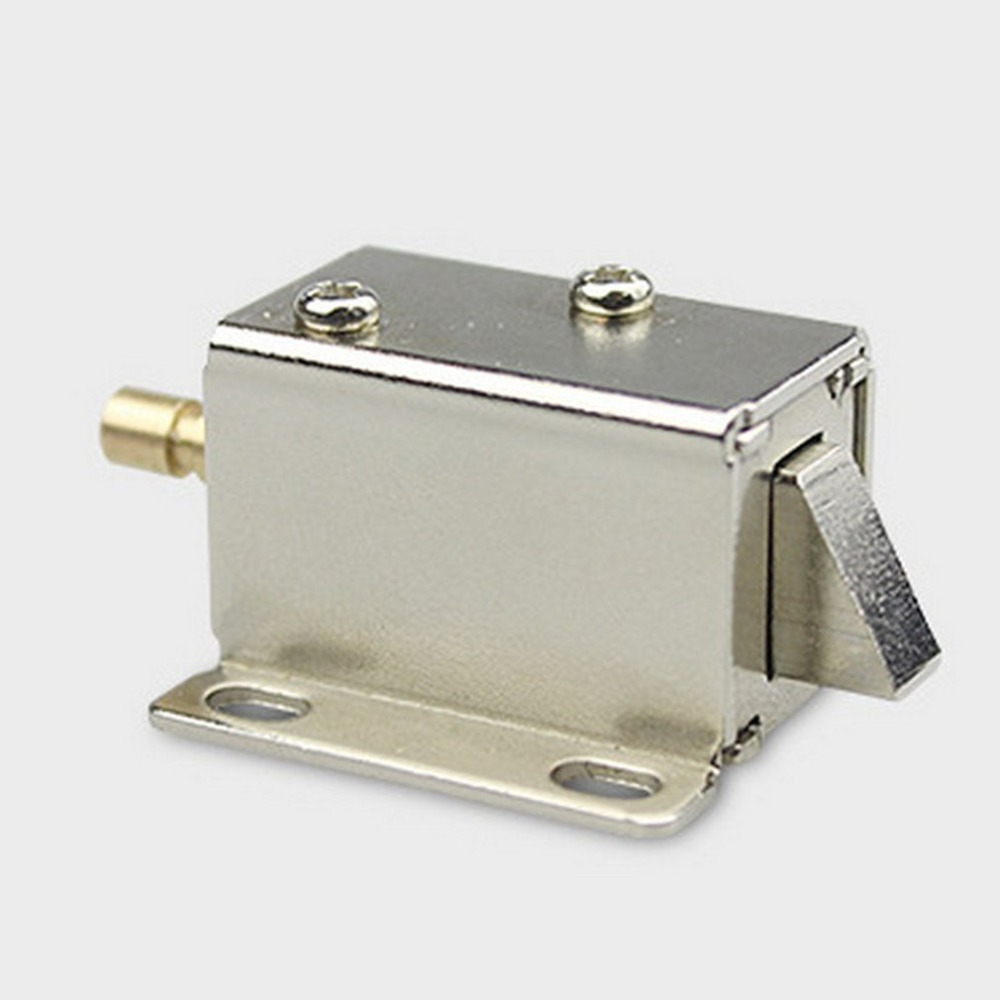 DC 12V File Display Cabinet Drawer Latch Assembly Solenoid Electric Lock Fit For Desk Cabinet Window Or Safe Box цена