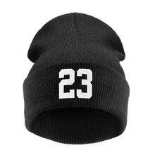 """Высококачественные зимние шапки бини """"23"""" Быки спортивные для женщин/мужчин вязаная шапка с буквенным принтом шапка Gorros Toucas MA21"""