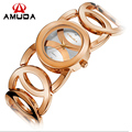 Nova Marca de Luxo Relógios De Ouro Das Mulheres de Cristal Moda Pulseira de Relógio de Quartzo de Choque À Prova D' Água Relogio feminino Orologio Donna