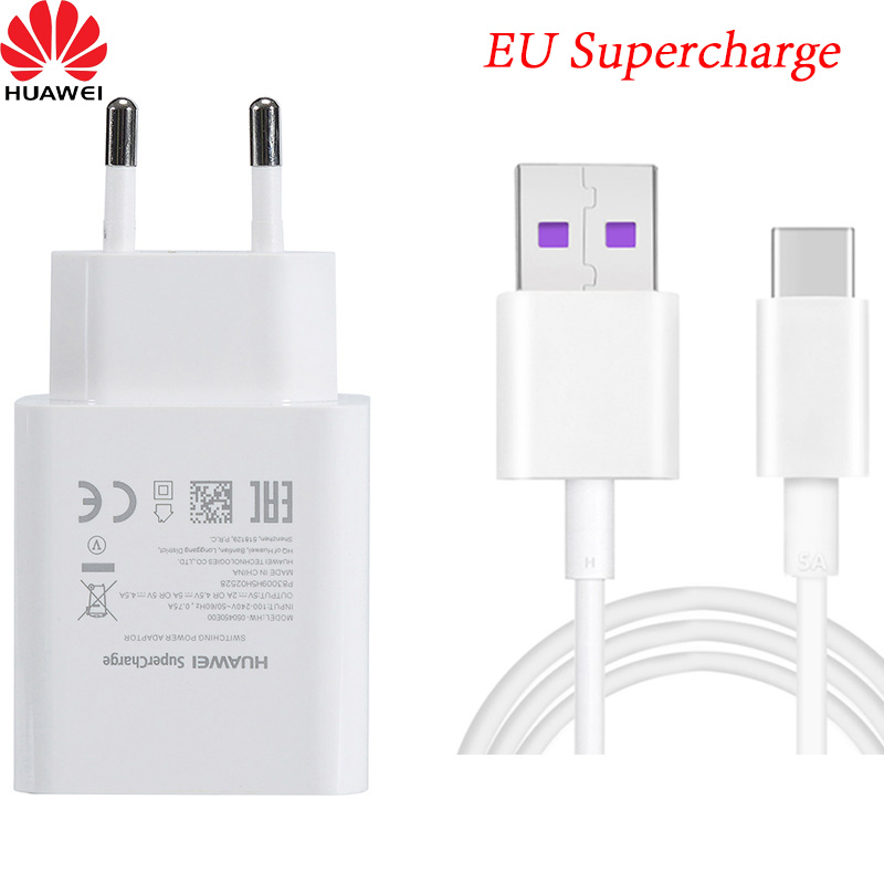 Original Supercharge 5V 4.5A USB Fast EU Charger Adapter 5A TYPE C Cable For HUAWEI P9 P10/Plus Mate 9 10 P20 pro honor 9 10 V10