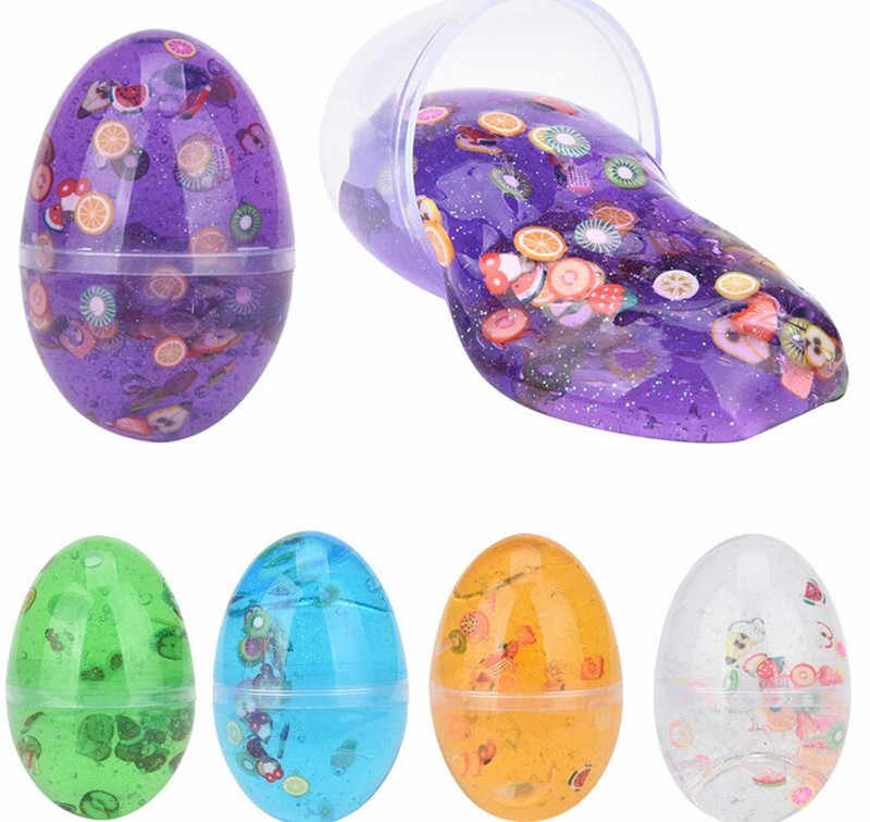 40g Egg Colorful Soft Slime Crystal mud Scented Stress Relief Toy Sludge Toys Plasticine Toys Kids Gift