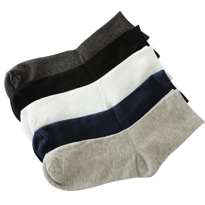Men Autumn Winter Business Cotton Socks Male Gray Casual Short Socks 5pairs/lot