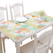 купить Thickened PVC table cloth Waterproof soft glass plastic tablecloths Table mat Coffee table cover oilproof tablecloth по цене 1927.88 рублей