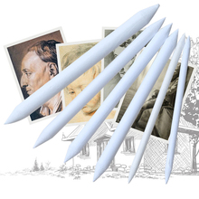 6pcs/set Blending Smudge Stump Stick Tortillon Sketch Art White Drawing Pen Tool  Rice Paper