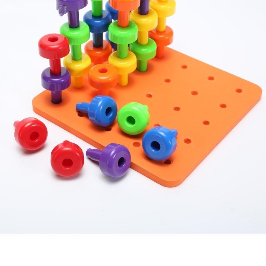 Fine Motor Toys : Pcs peg board set montessori therapy fine motor toy for