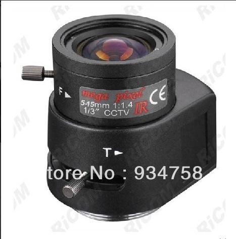 1/3 CS 1.3 million pixels 5-15mm Auto Iris Lens купить cs 1 6 за 15 рублей