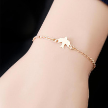 Fashion Peace Dove Bangle Flying Birds Bracelet Little Cute Swallow Baby Bird Bracelets For Women Girls Gift Jewelry