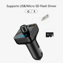 Car mp3 player Bluetooth BT16 hands-free phone voice reminder FM transmitter TF card dual USB 3.4A car charger