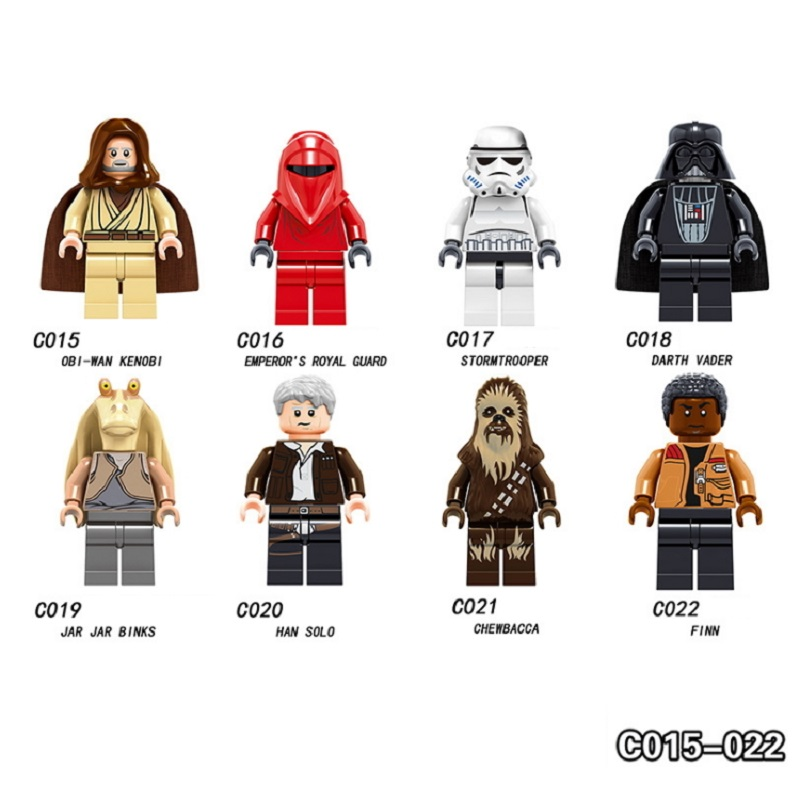 Single Star Wars Figures Luke Leia Sith Trooper Han Solo Maz Anakin Darth Vader Jedi Yoda Obi Wan Starwars Building Blocks Toys