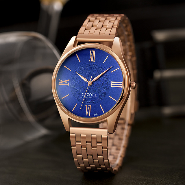 YAZOLE Rose Gold Watch Women Ladies Brand Luxury 2018 Wrist Watches For Female Clock Golden Quartz Wristwatch Hours Montre Femme