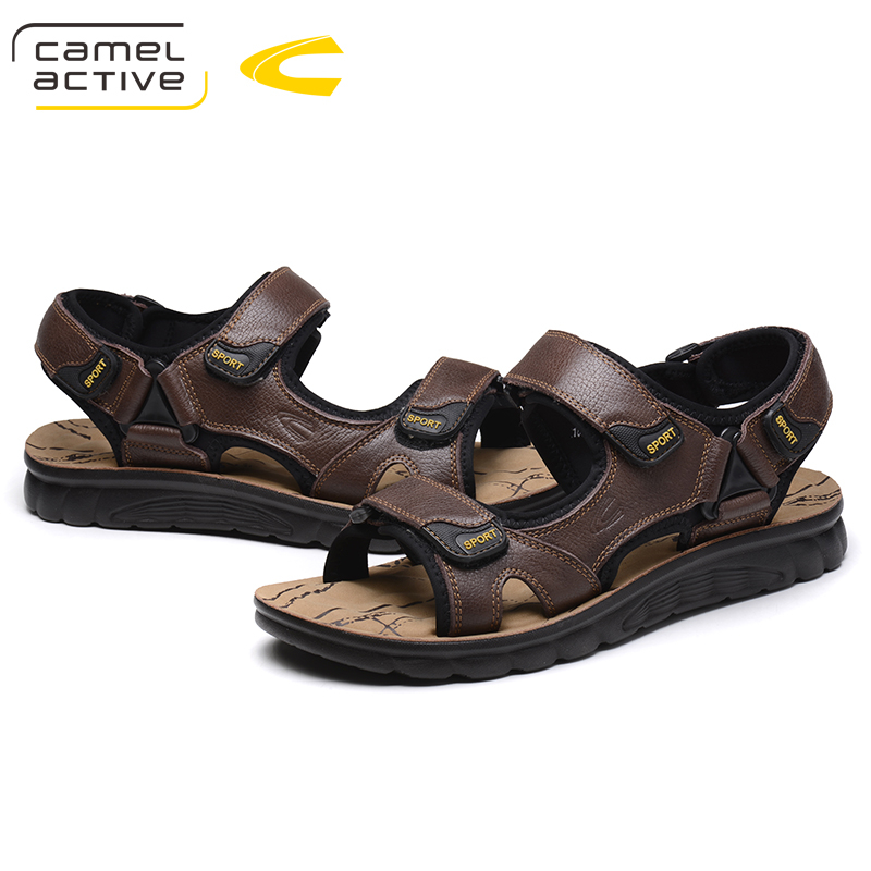 Camel Active New Brand Genuine Leather Shoes Summer New Large Size 44 Mens Sandals Men Sandals Fashion Sandals And Slippers