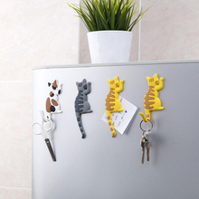 Cute Cartoon Cat Refrigerator Magnet Hook Ultra-Powerful Super Strong Magnetic Hanger Microwave Oven Kitchen