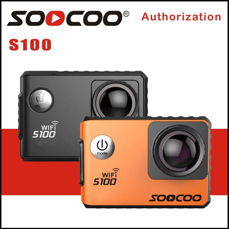 SOOCOO S100 Caméra D'action 4 K Wifi Gyroscope Intégré GPS Extension Aller Étanche Pro Mini Caméras de Plongée En Plein Air Mini Sport DV