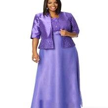 Элегантный фиолетовый с курткой Половина рукава пятно лодыжки Длина размера плюс мать невесты платья свадебные вечерние