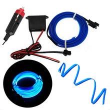 Car LED Cold Lights 12V Flexible Neon EL Wire Auto Lamps On Car Cold Light Bar Line Interior Decoration Profile For Led Strip