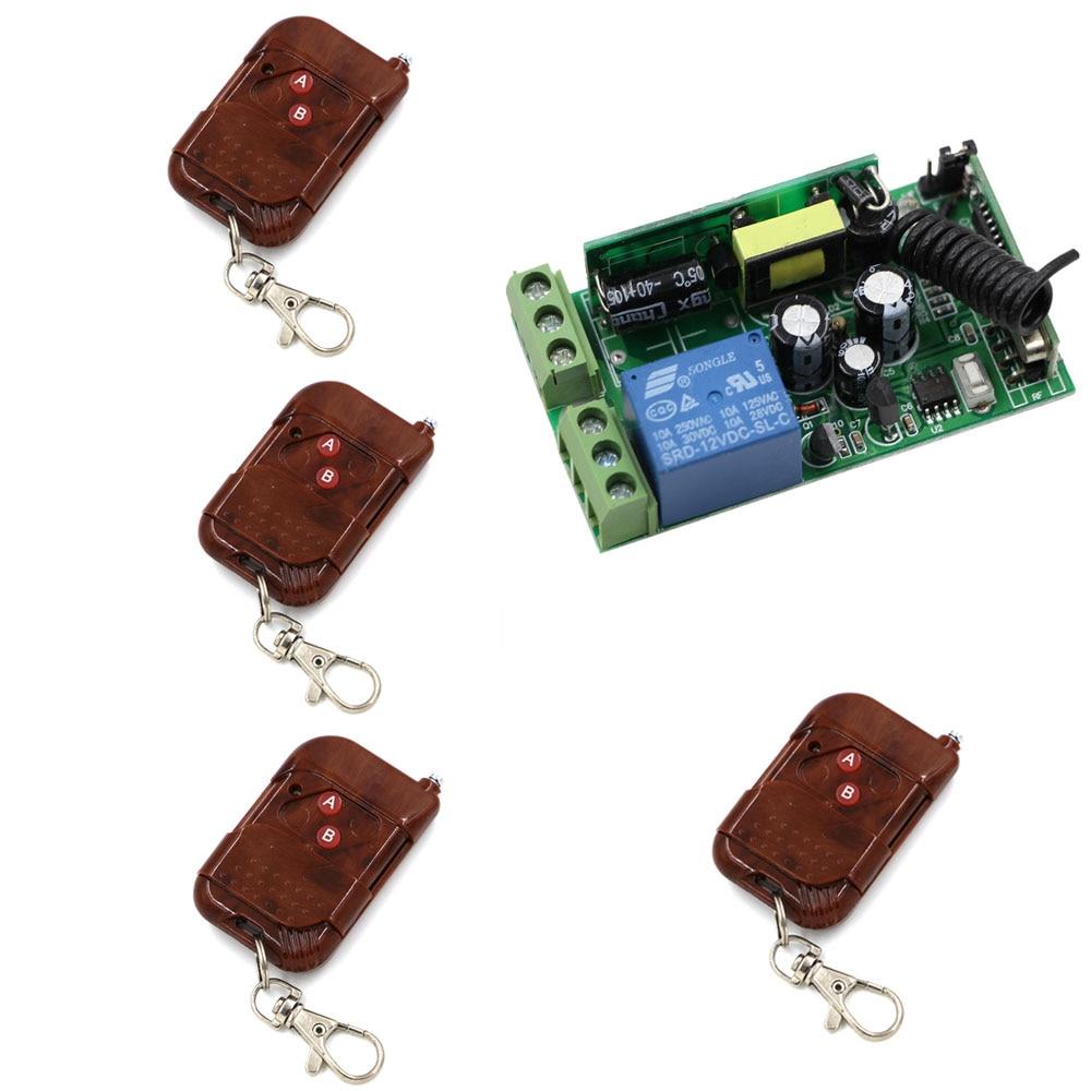 AC85V 110V 220V 250V 1CH Remote Switch Wall Lamp Ceiling Light LED Bulb Wireless Remote Control Switch Smart Home RF Receiver