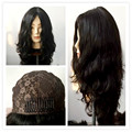 Лучших Европейских девственные волосы небольшое волна еврейских парик, шелковый топ кошерный парик Лучший Sheitels бесплатная доставка