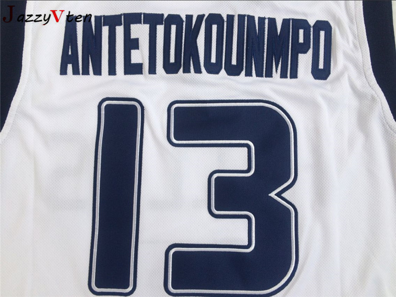 71b94490425 2018 Mens Cheap Throwback Basketball Jersey Hellas Giannis Antetokounmpo  13  Greece White Stitched Retro Shirts-in Basketball Jerseys from Sports ...