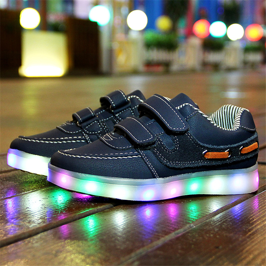 Led Shoes Kids Usb Charging Girls Boys Fashion Sneakers With Luminous Sole Spring Baby Glowing Led Sneakers Shoes 50Z0074