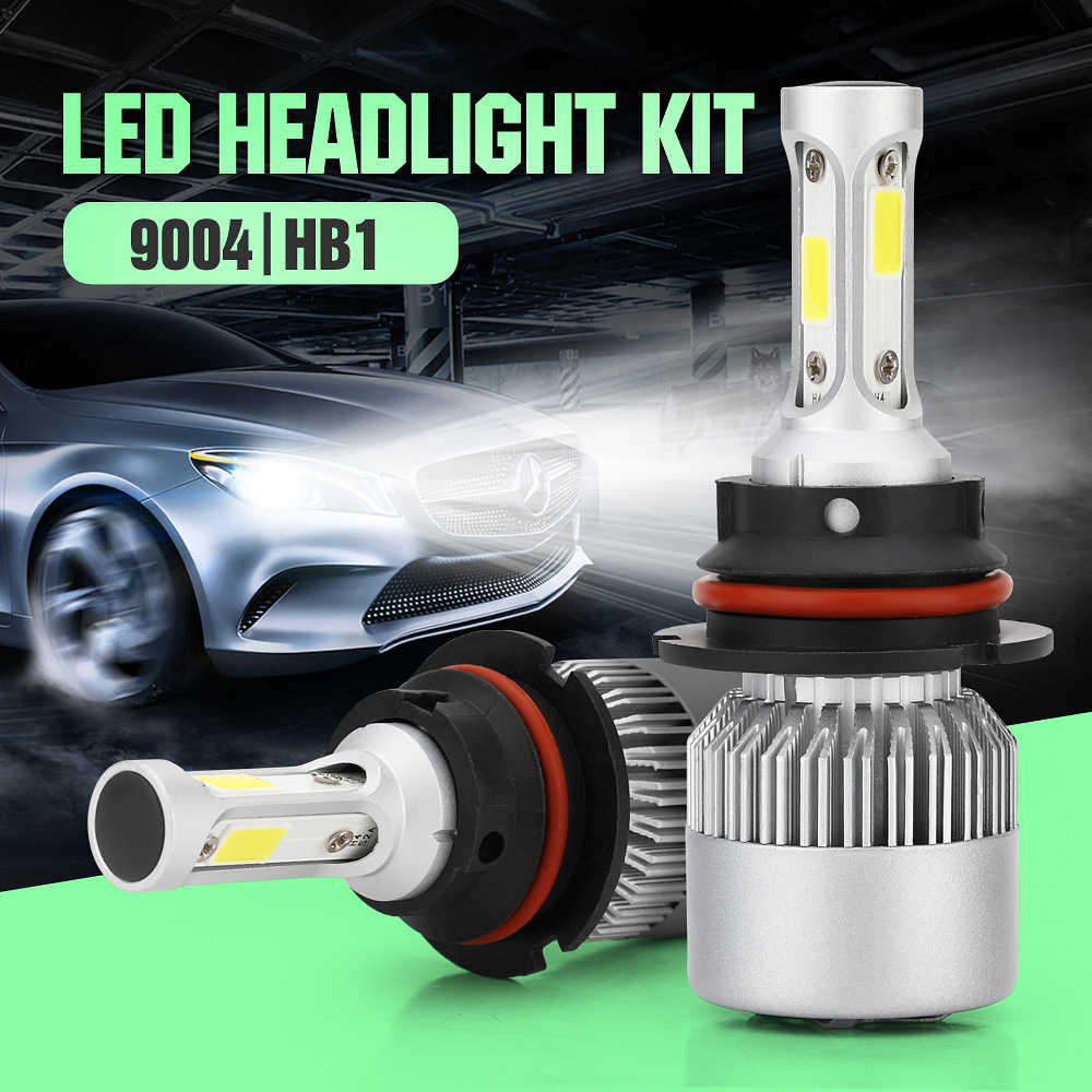 ECAHAYAKU 2Pcs Auto H4 LED H7 H11 H27 9006 9004 H1 H3 HB3 S2 Car Headlight Bulbs 72W 7600LM Automobiles Lamp 6500K DC 12V LEDS