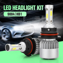 ECAHAYAKU 2Pcs Auto H4 LED H7 H11 H27 9006 9004 H1 H3 HB3 S2 Car Headlight Bulbs 72W 7600LM Automobiles Lamp 6500K DC 12V LEDS(China)