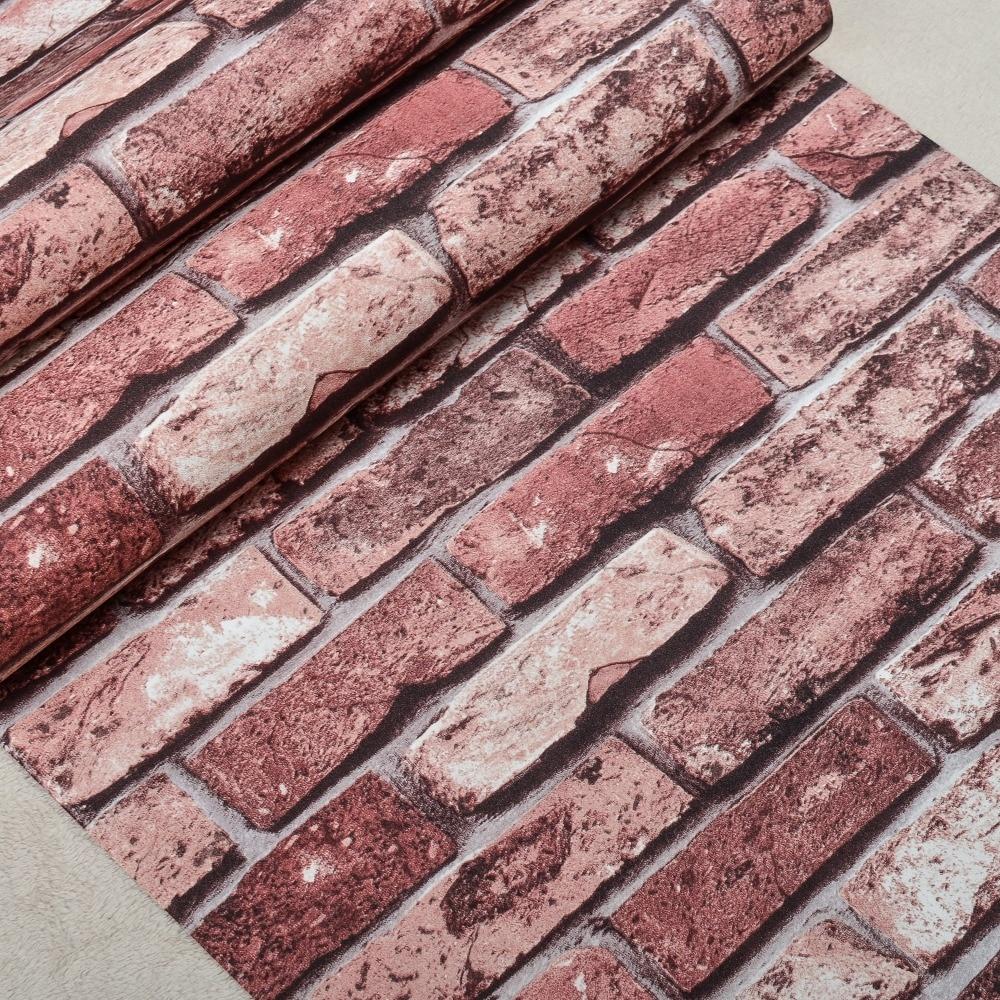 Vinyl Rustic Brick Wall Wallpaper (10M
