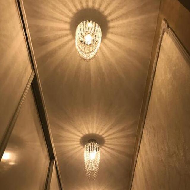 HQXING LED 1-light Chrome Modern K9 crystal chandelier lighting D17*H45cm AC110V-256V Transparent color