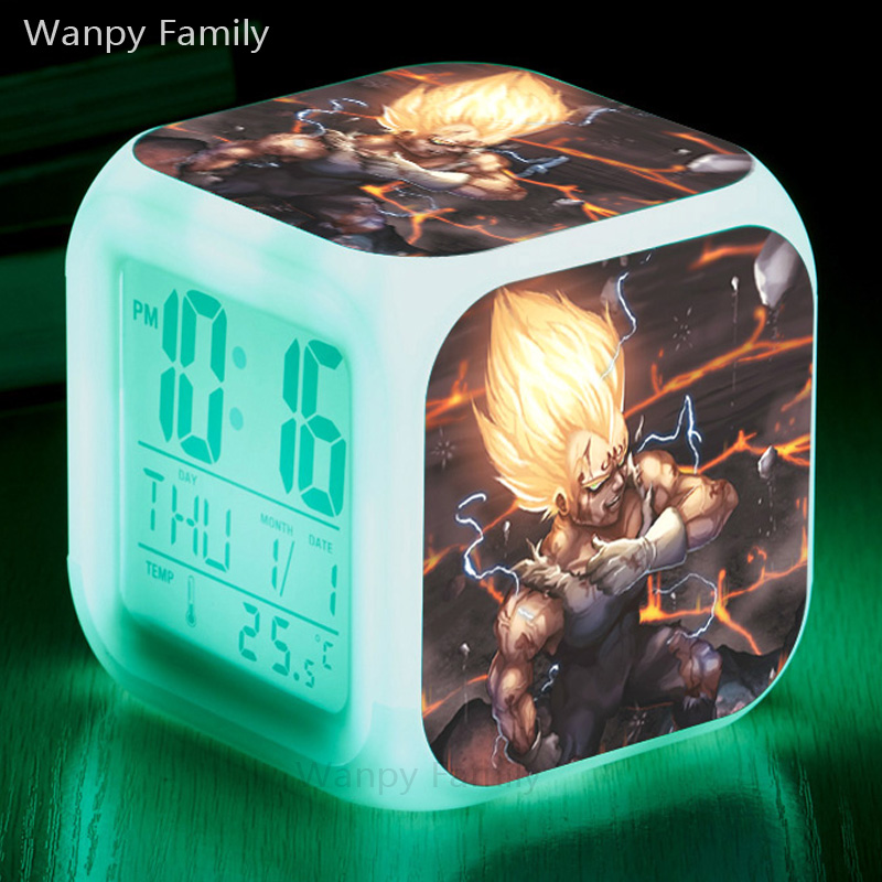 3D Animation DRAGON BALL Alarm Clocks,Glowing LED Color Change Digital alarm clocks For Kids Birthday Gift toy alarm clocks