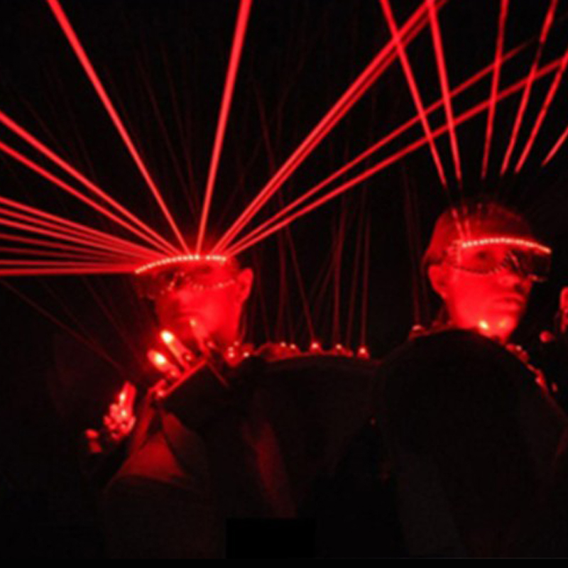 T Cool Laser Glasses Black Boby Red Light For Stage Performance DJ Party Bar Dancers Club Flashing Glasses