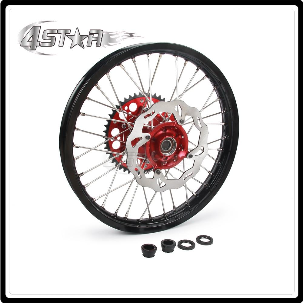 Мотоцикл обода колеса ступицы комплект 1.6*21 1.85*19 для Honda CR125 CR250 CRF250R CRF250X CRF450R CRF450X мотокроссу