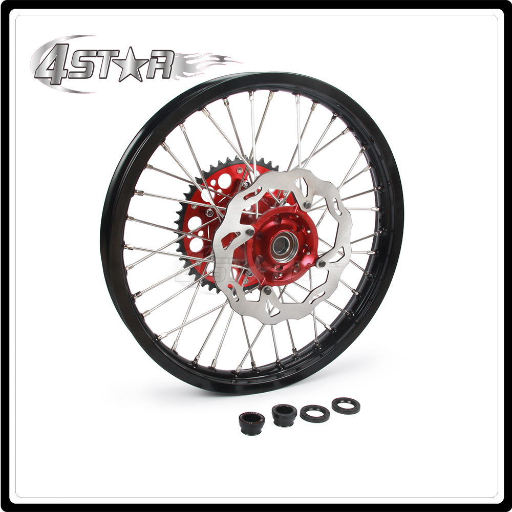 Motorcycle Wheel Rim Hubs Set 1.6*21 1.85*19 For HONDA CR125 CR250 CRF250R CRF450R CRF450X CRF250X Motorcross
