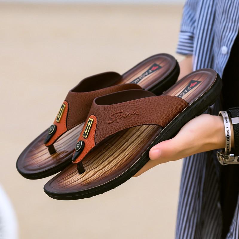 Jmaiou 2019 Männer Sommer Flip-flops Hausschuhe Hohe Qualität Strand Sandalen Indoor & Outdoor Casual Schuhe Sandalen Männer Flip-flops C4 Diversifiziert In Der Verpackung Flip-flops