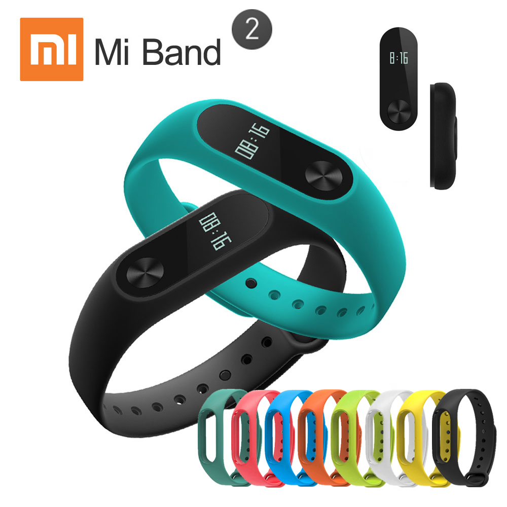 XIAOMI Mi Band 2 Miband 2 Smart Bracelet Wristband Band Fitness Tracker Bracelet Smartband Heart rate Monitor 100% Original ark benefit u2 dual black